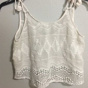 Off white sheer top